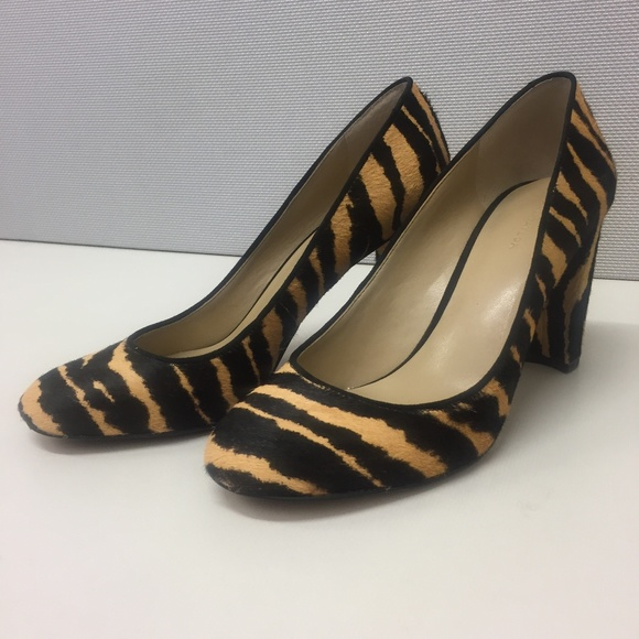 cd2c35d10dd Ann Taylor Shoes - Ann Taylor Emeline Calf-hair Block Heel Pumps